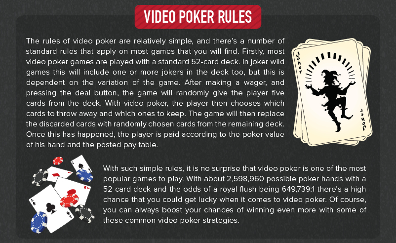 Most Common Video Poker Strategies rules