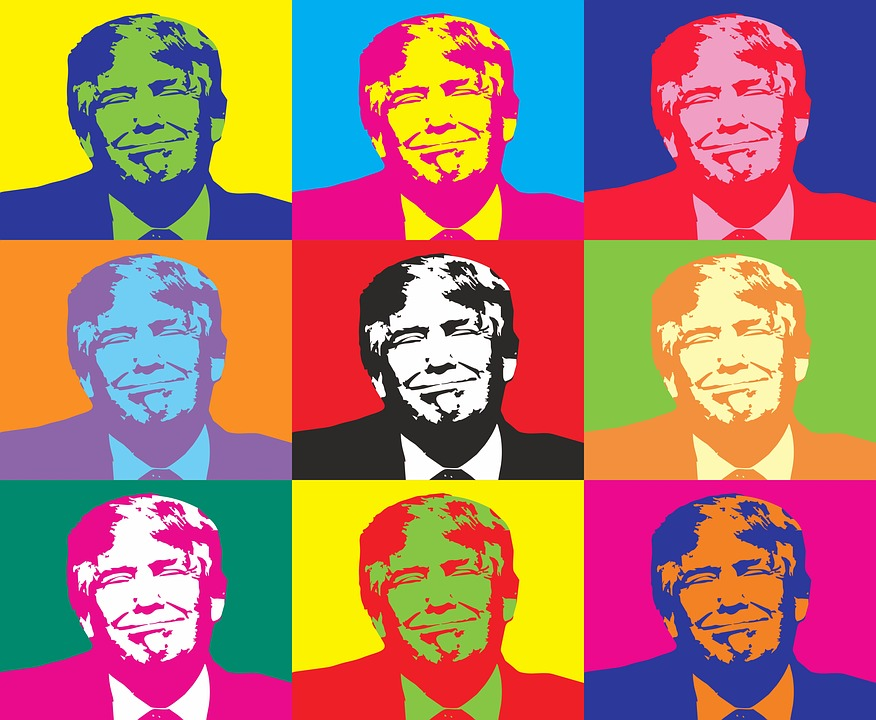 Andy Warhol style Donald Trump images
