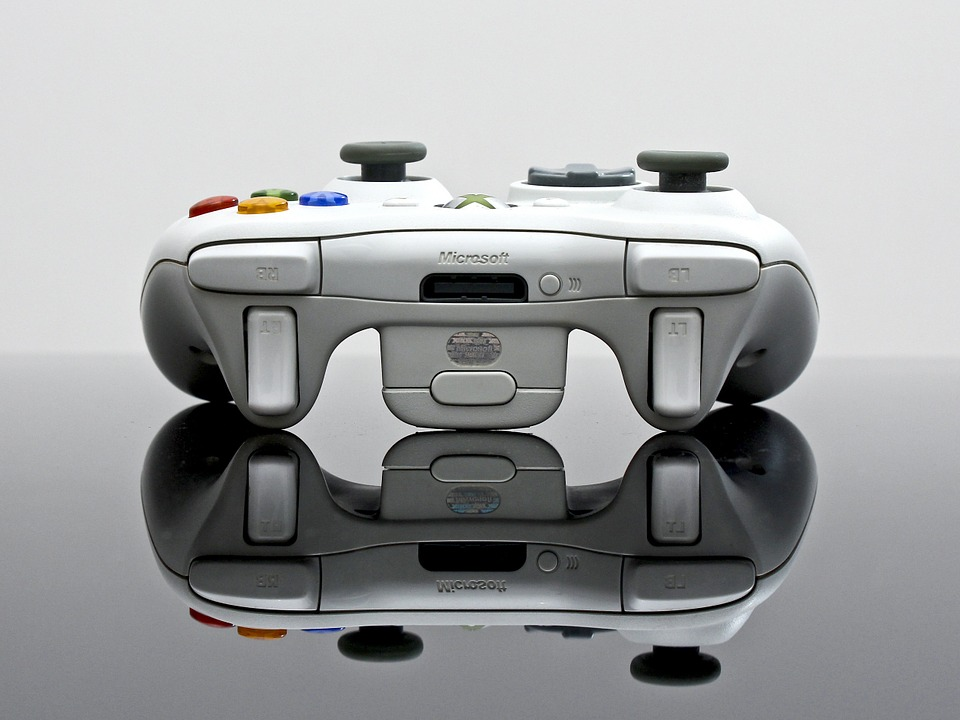 Xbox 360 Controller View From Back With Triggers
