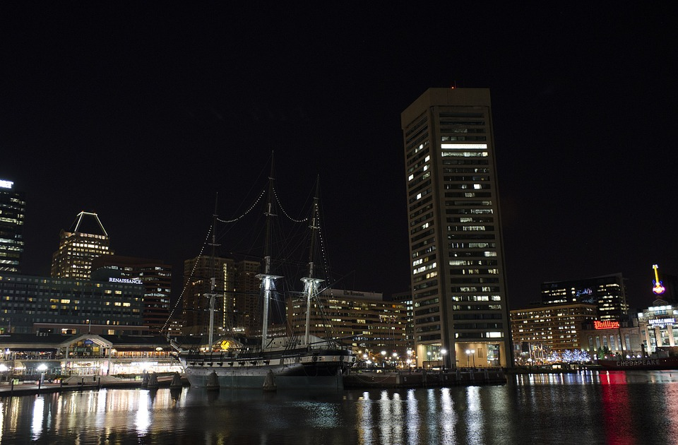 Maryland cityscape & harbour